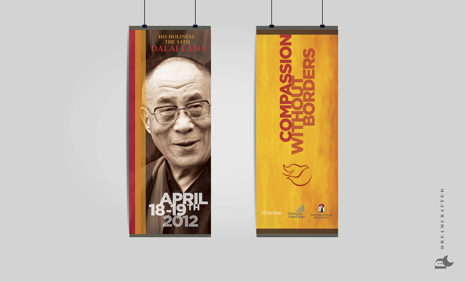 Dalai Lama Event Banners Display