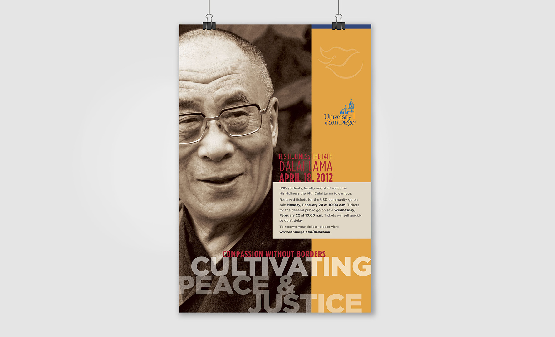 Dalai Lama Event Poster Layout